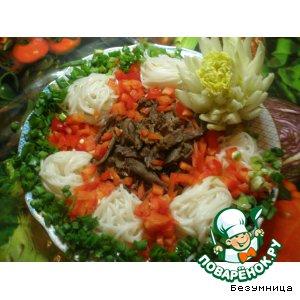 Рецепт: Теплый салат с фунчезой