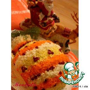 """Рецепт: Закусочный тортик """"Новогодняя традиция"""""""