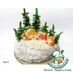 Рецепт: Закусочный торт Лесная полянка