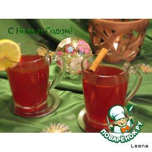 Рецепт: Пряный клюквенный чай