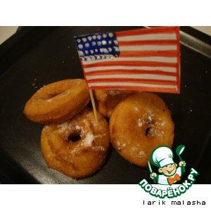 Рецепт: Американские пончики Донатсы без дрожжей