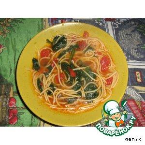 Рецепт: Суп со шпинатом