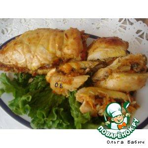 Рецепт: Пикантная фаршированная куриная грудка