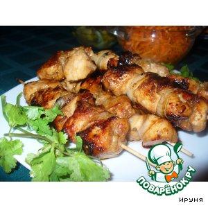 Рецепт: Пикантный куриный шашлык