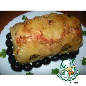 Рецепт: Мясо в ананасе