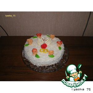 Рецепт: Торт с кокосовой стружкой