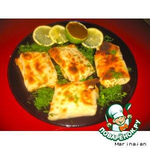 Филе рыбы в хрустящих конвертиках из лаваша