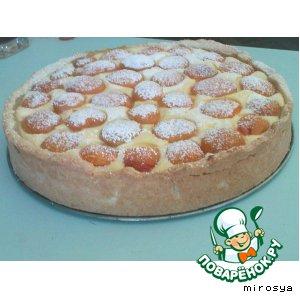 Рецепт Открытый абрикосово-творожный пирог