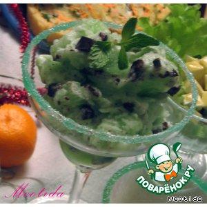 Рецепт: Десерт «Новогодний лед»