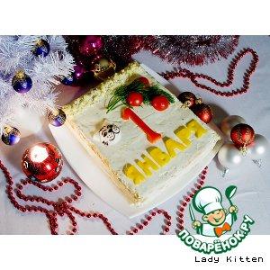 Закусочный торт «Новогодний календарь»