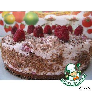 Рецепт: Малиново-шоколадный торт-суфле
