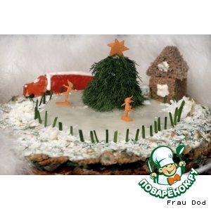 Рецепт: Закусочный торт Праздник к нам приходит