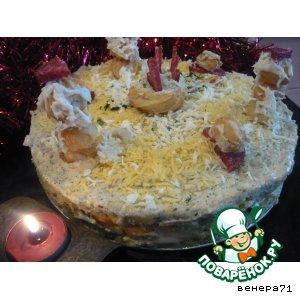 """Закусочный торт """"Пикник снеговиков"""" – кулинарный рецепт"""