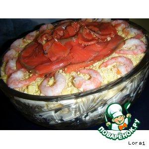 Рецепт: Праздничный рыбный салат