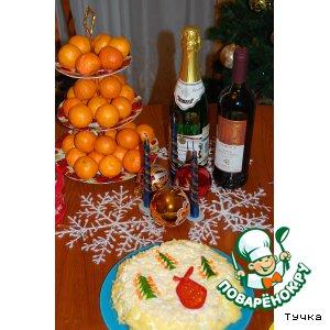 """Рецепт: Салат """"Новогодний сюрприз"""""""
