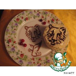 """Рецепт: Пирожное """"И тигр бывает нежным"""""""
