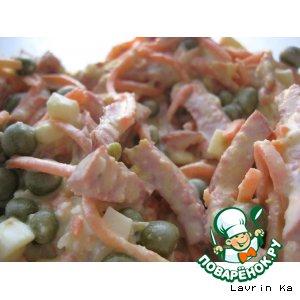 Рецепт: Салат с колбаской
