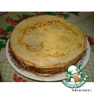 Рецепт: Торт из блинов с сыром
