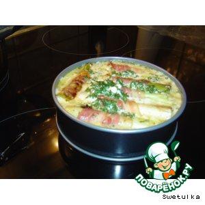Рецепт: Запечeнный лук-порей в беконе