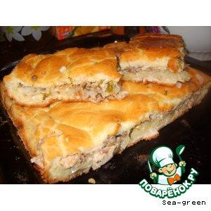 Рецепт: Пирог рыбный Нежный