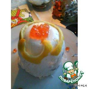 """Рецепт: Закусочное сырное суфле """"Новогоднее украшение"""""""