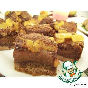 Рецепт: Пирожное «Нежность в тигровой шкуре»