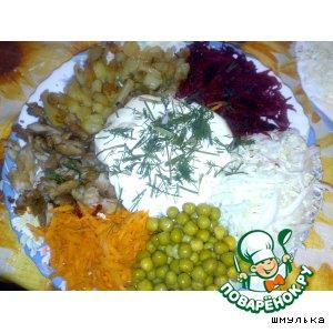 Рецепт: Салат из сырых овощей