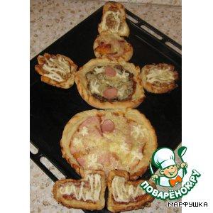 "Рецепт: Пицца ""Снеговик"""