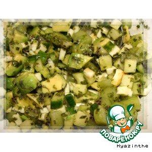Рецепт: Салат Этюд в зеленых тонах