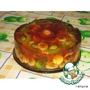 Фруктово-желейный торт Моя мечта