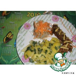 Рецепт: Ужин для любимого№2. Рулетики с грибами