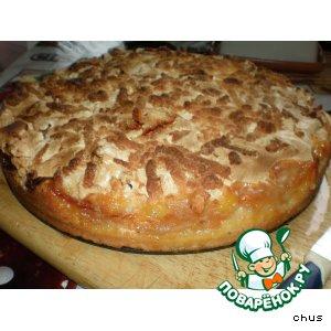 Рецепт: Яблочный пирог со взбитыми белками