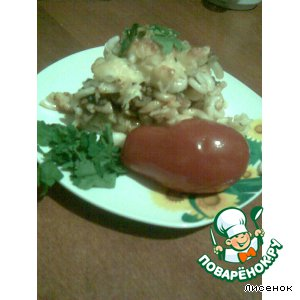 Рецепт: Запеканка из макарон с грибами