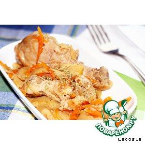 Рецепт: Курица с айвой