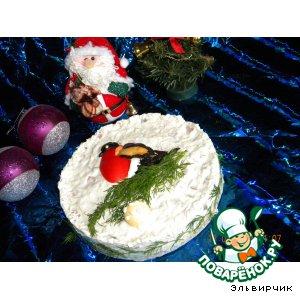 """Рецепт: Закусочный торт """"Снегирь"""""""