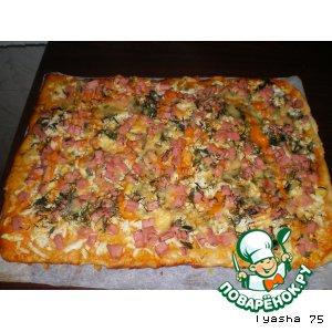 Рецепт: Тонкая домашняя пицца