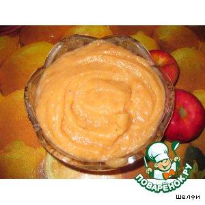 Яблочное пюре без сахара с корицей и ванилью