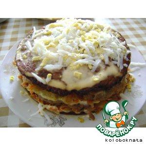 Рецепт: Печеночный торт Тает во рту