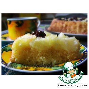 Рецепт: Пирог-перевeртыш с фруктами