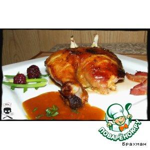 Рецепт: Курица в медовой карамели с мандариновым соусом