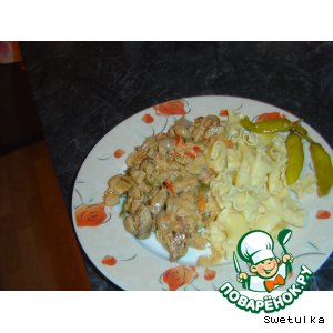 Рецепт: Мясо с овощами из духовки
