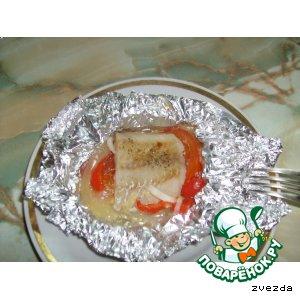 Рецепт: Пангасиус, запеченный с овощами в фольге