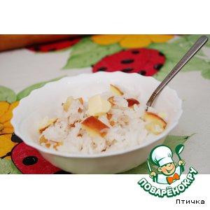 Rice porridge with apples from grandma