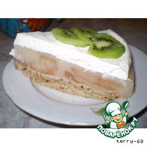 Рецепт: Грушевый торт с белым вином