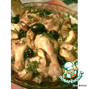 Рецепт: Курица Гламурная