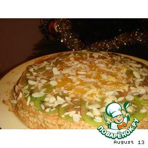 Рецепт: Старый добрый вафельный торт