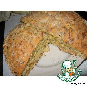 "Рецепт: Домашний хлеб без дрожжей ""Ленивый"""