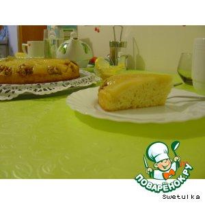 Рецепт: Пирог с грушами Перевeртыш