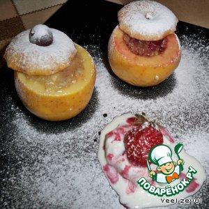 Рецепт: Печеные фаршированные яблоки