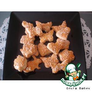 Рецепт: Греческие печенюшки с фетой